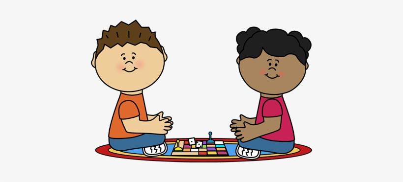 Svg Royalty Free Library Kids Playing Board Games.