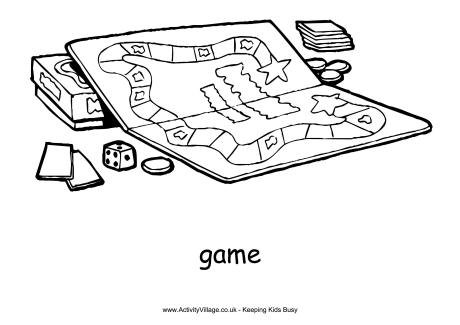 Board Games Clipart Black And White.