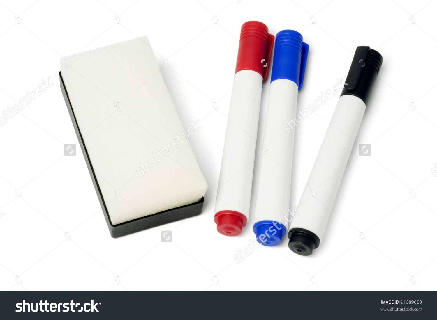 Whiteboard and pen clipart.