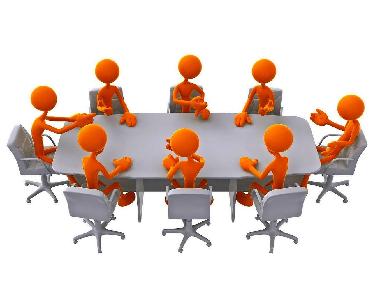 Board meeting clip art.