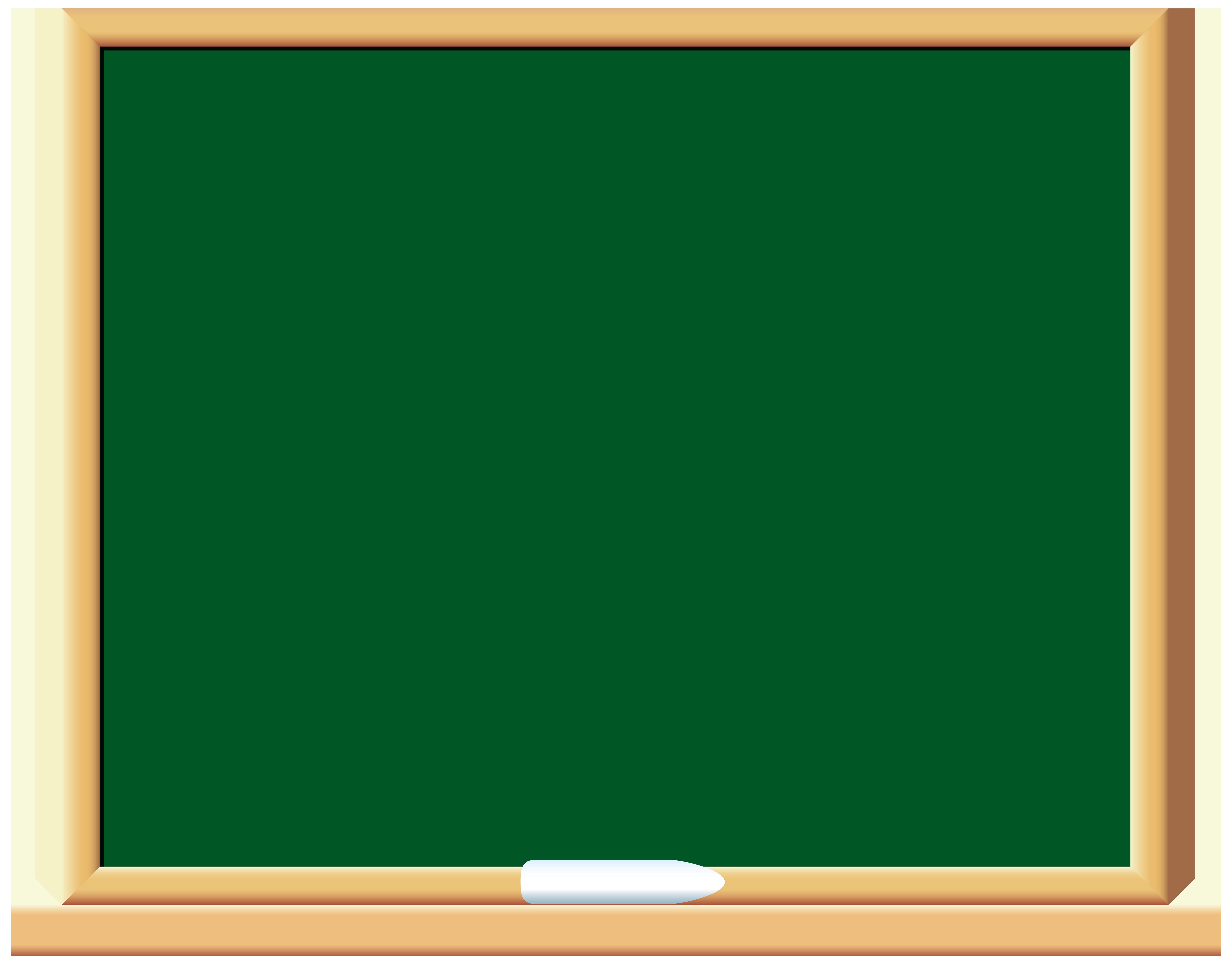 Green School Board PNG Clip Art.