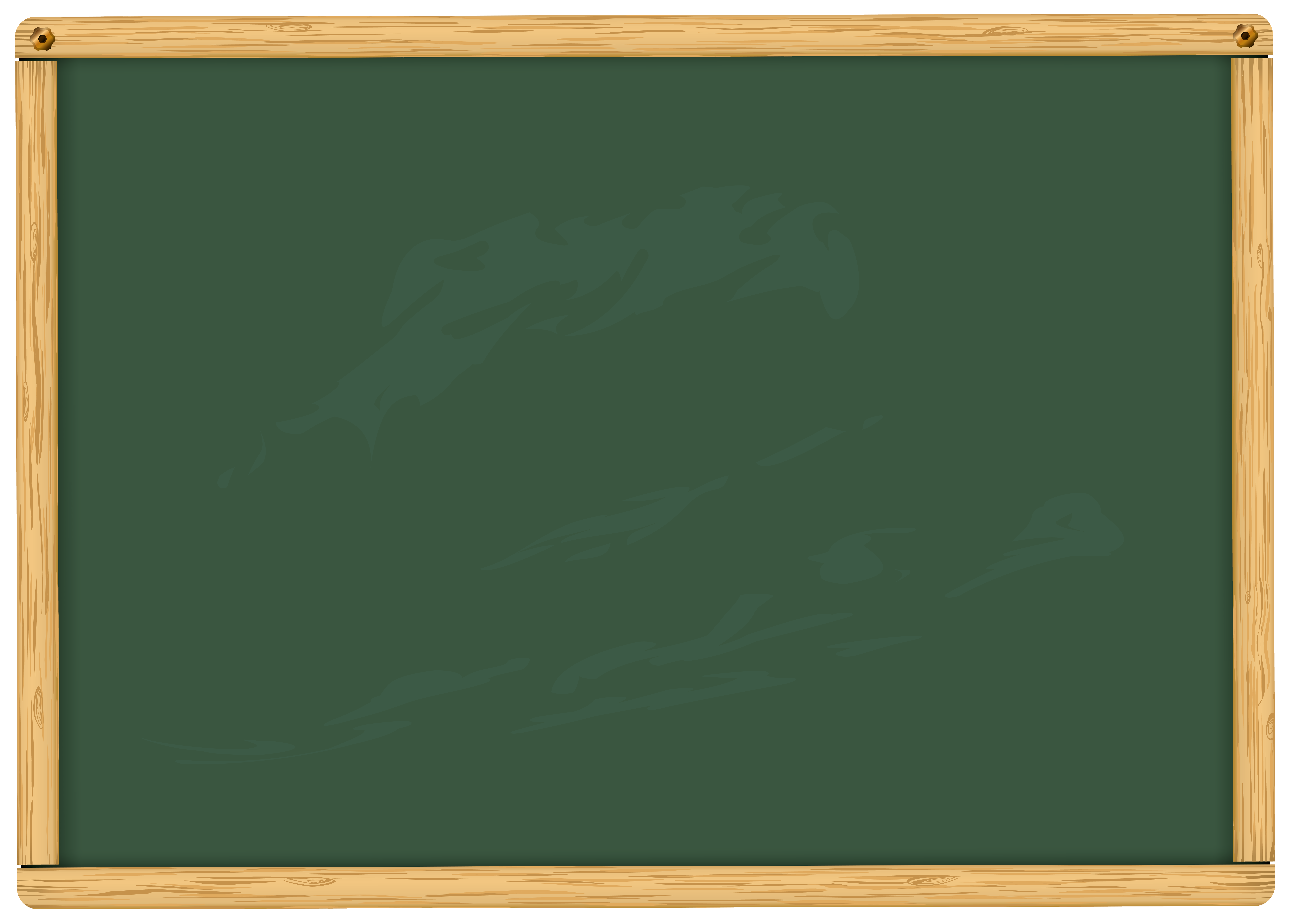Green School Board PNG Clipart Image.
