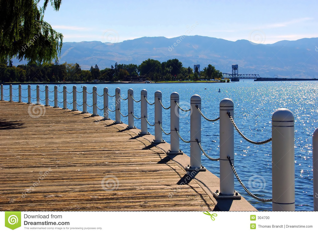 Kelowna Boardwalk Stock Photo.