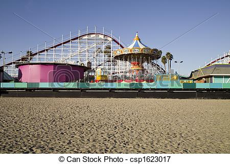 Picture of Boardwalk and Roller Coaster.
