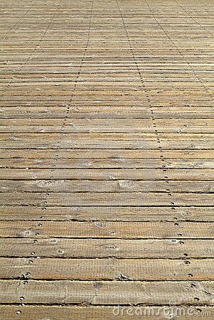 A Wide Wooden Boardwalk. Stock Photos.