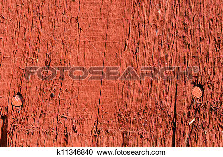 Stock Photography of retro wooden board wall nail heads background.