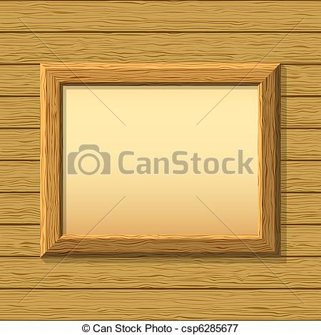 Stock Illustrations of Wood frame on wall.