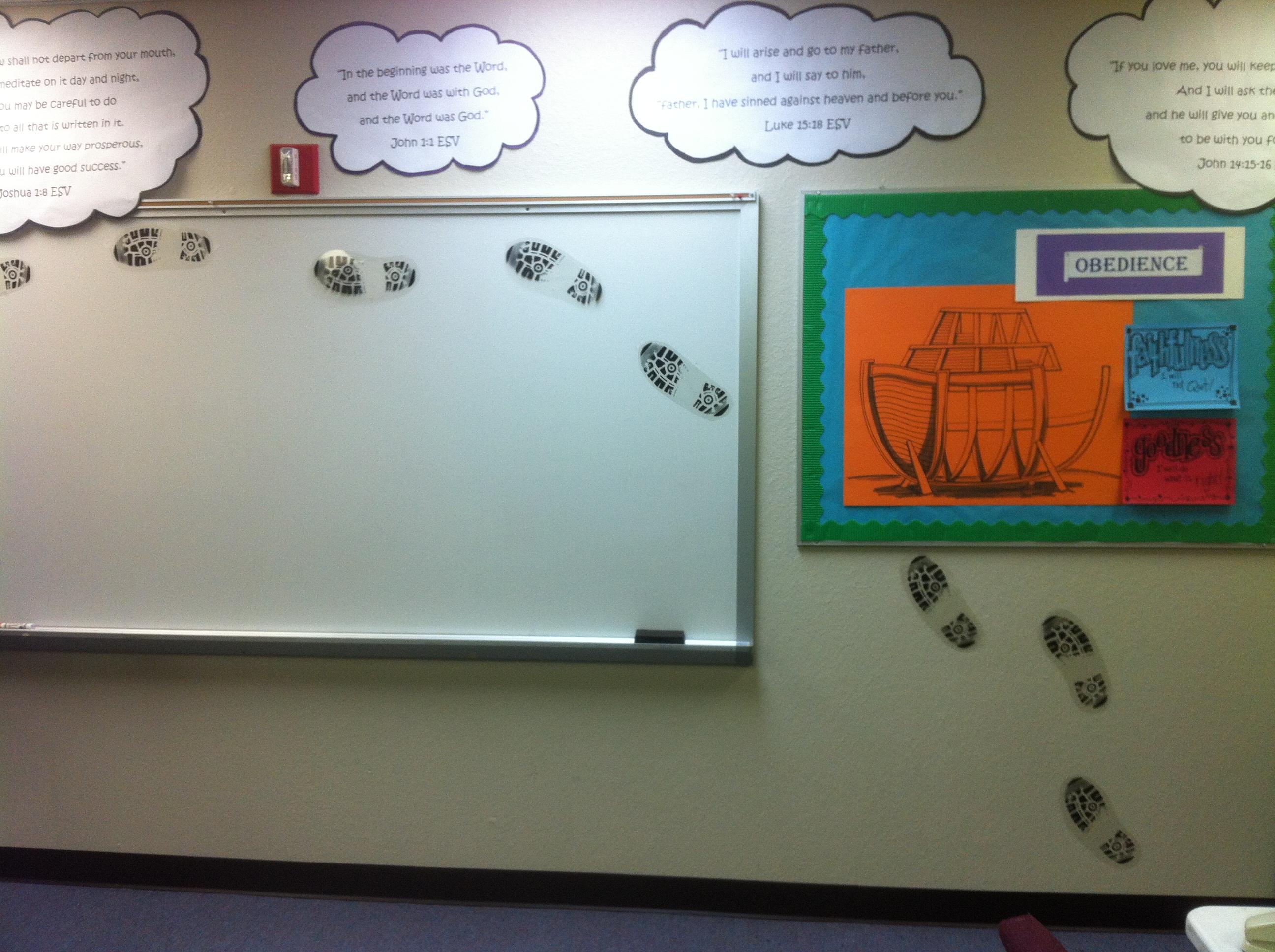 Classroom wall clipart.