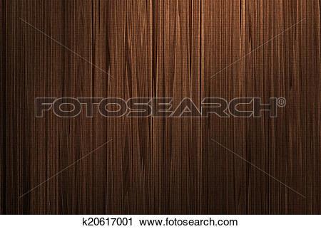 Clipart of Board wall dark wood grain k20617001.