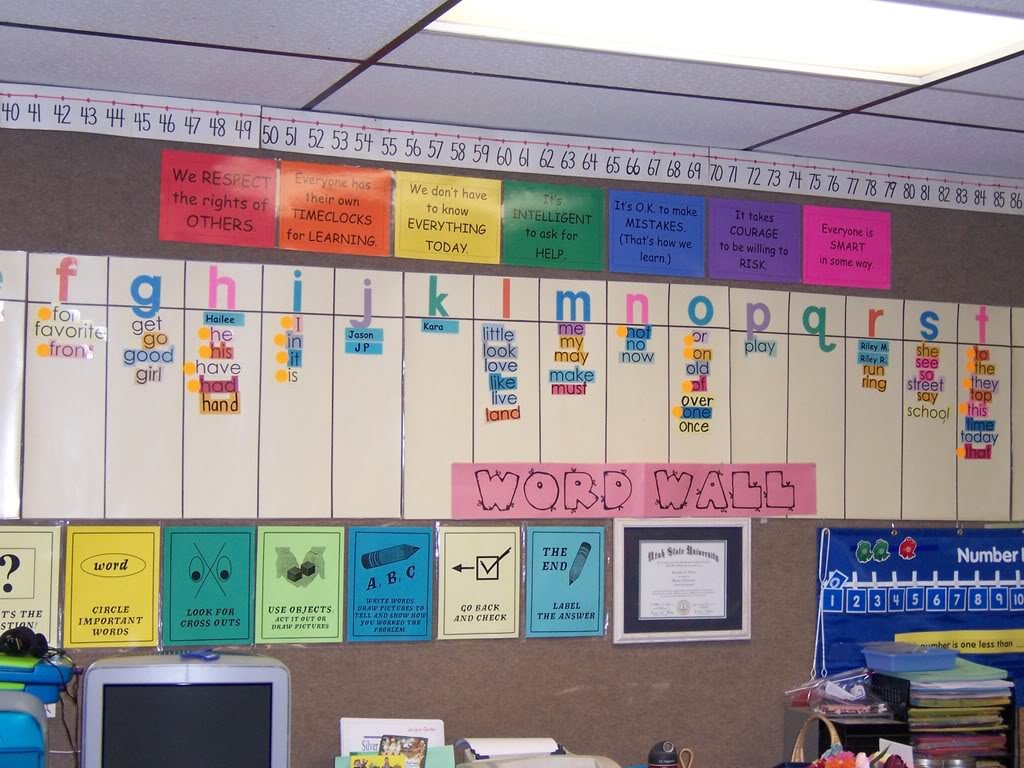 Preschool Word Wall Clipart.