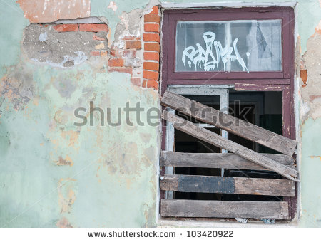 Boarded Up House Stock Photos, Royalty.