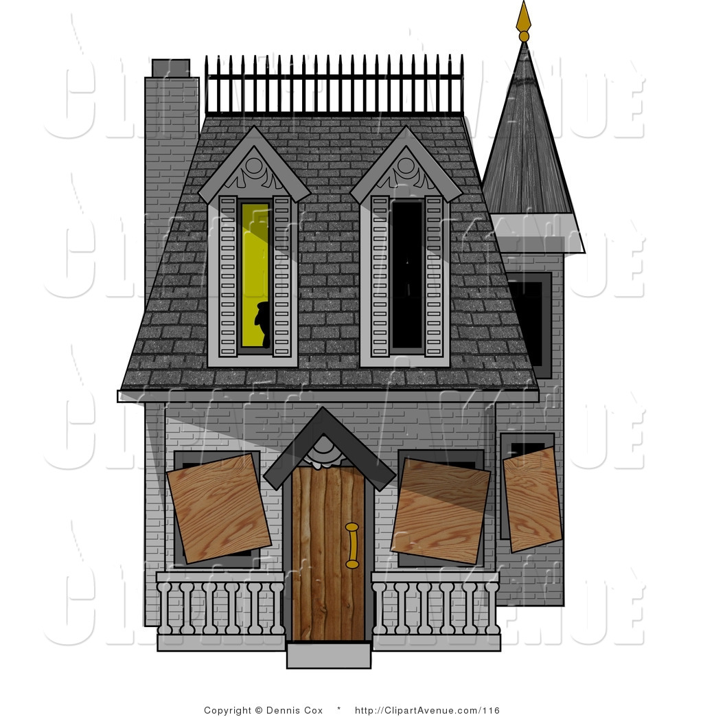 Avenue Clipart of a Boarded.