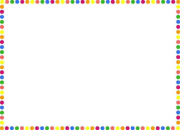 Polka Dot Frame Border Clipart.
