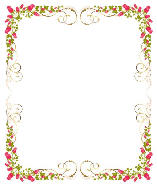 rose flower borders #3