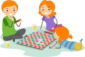 Board games for kids clipart.