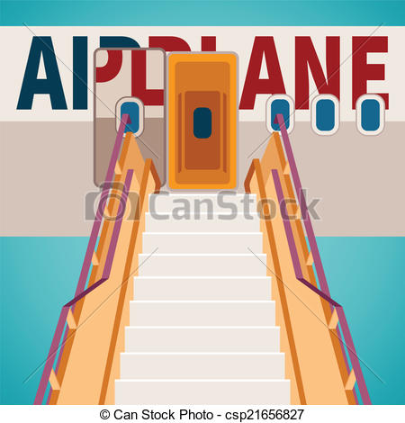Vector Illustration of Vector aircraft boarding bridge concept.
