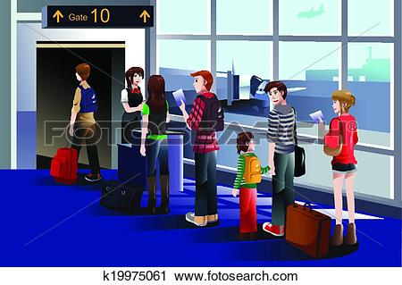 Boarding airplane Clipart Illustrations. 2,744 boarding airplane.