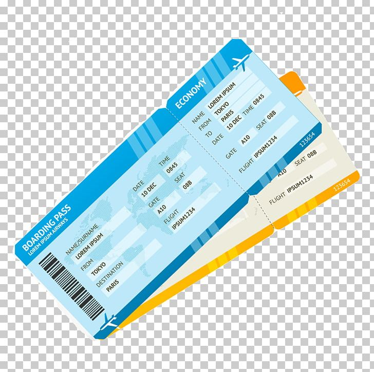 Air Travel Airplane Flight Airline Ticket Boarding Pass PNG, Clipart.