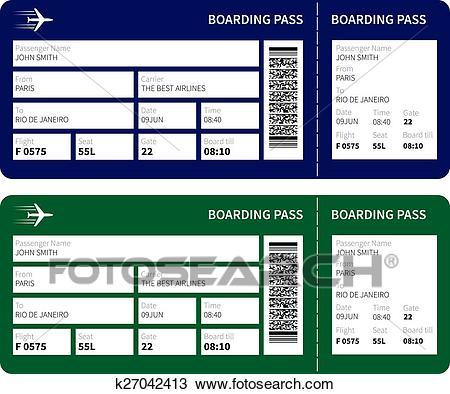 Boarding pass Clipart.