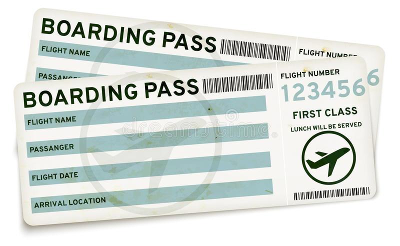 Boarding Pass Tickets Stock Illustrations.
