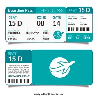 Boarding Pass Vectors, Photos and PSD files.
