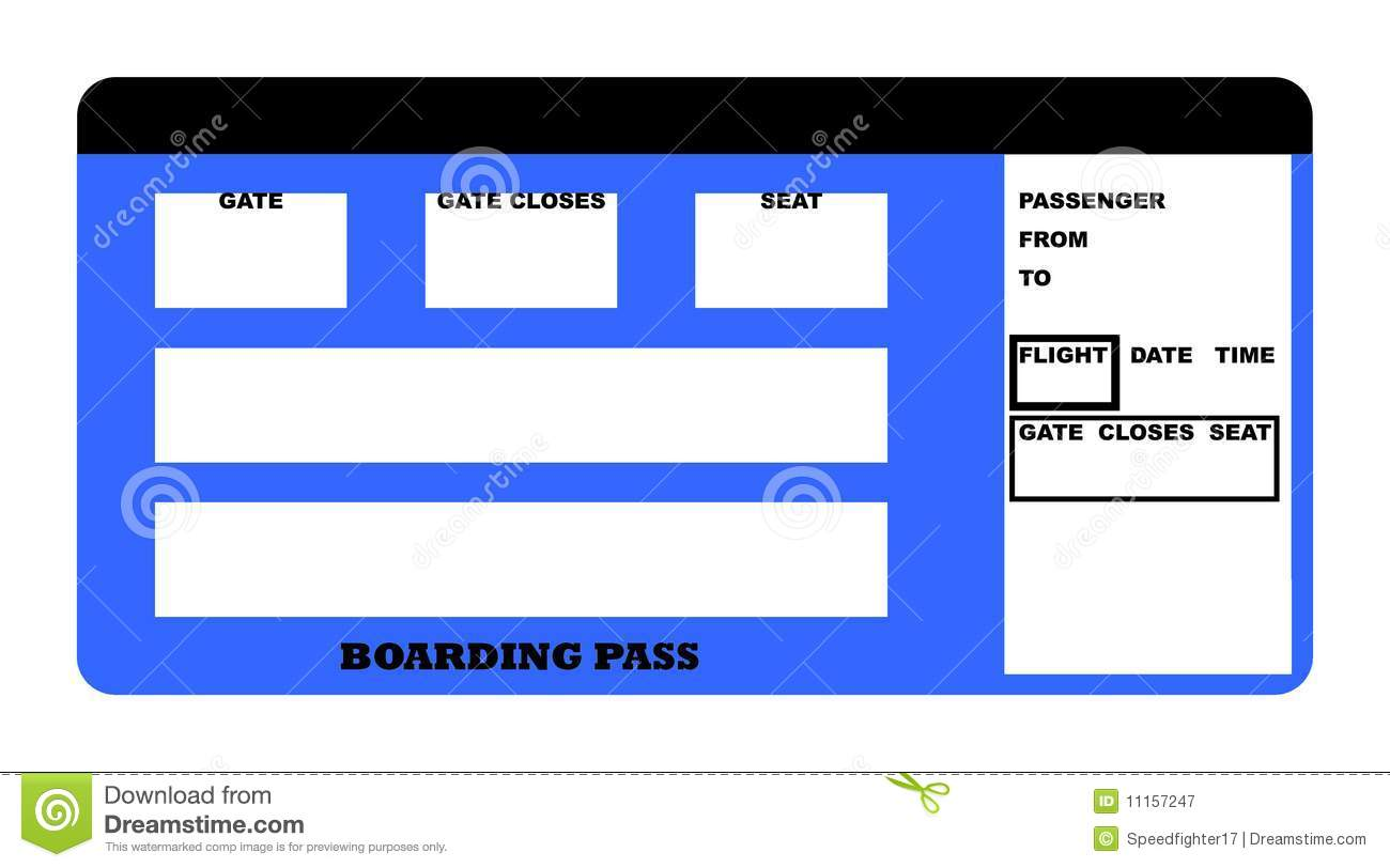 Boarding pass stock illustration. Illustration of flying.