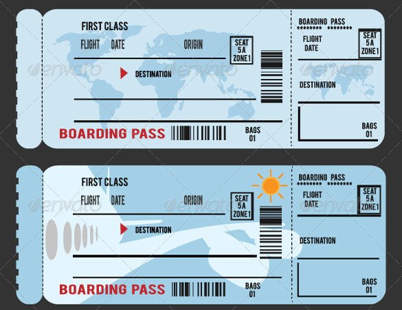 34+ Examples of Boarding Pass Design & Templates.