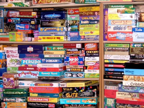 Stack of board game clipart.