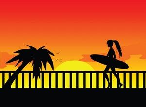 Sunset Clipart Image.