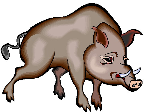 Boars clip art.