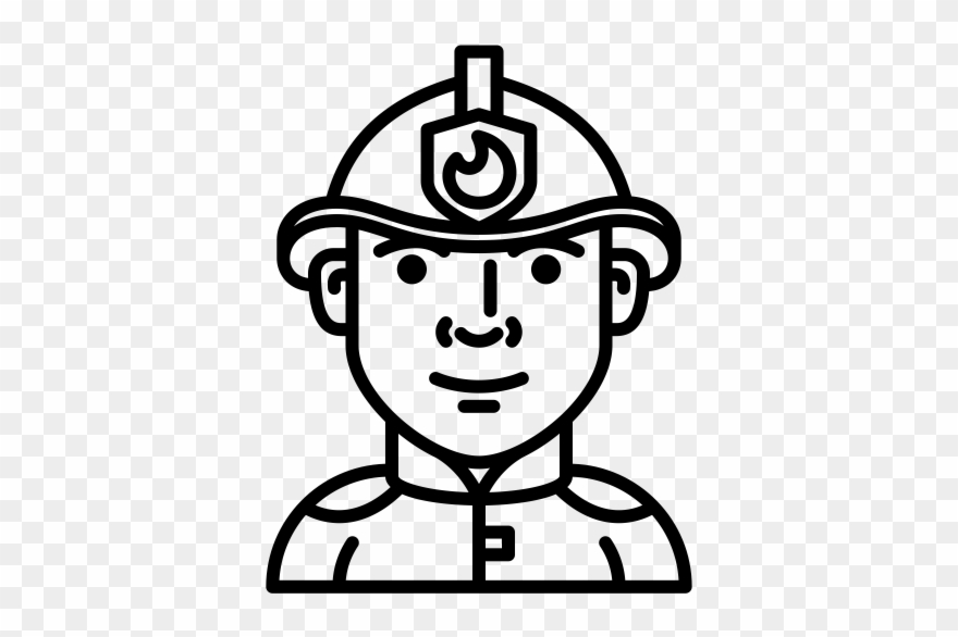 Firefighter Rubber Stamp.