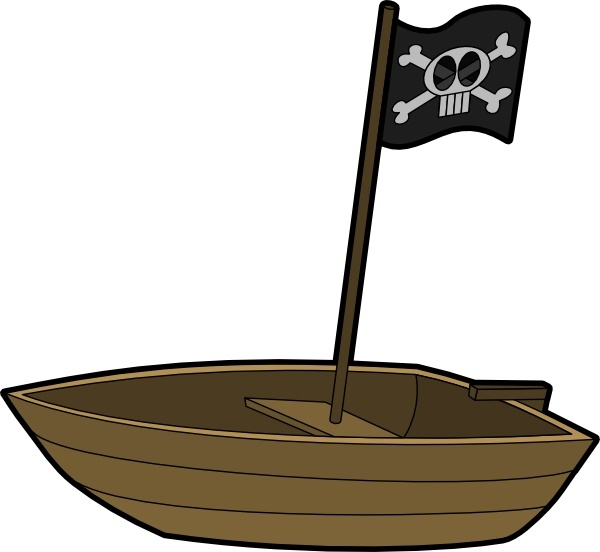Pirats Boat clip art Free vector in Open office drawing svg ( .svg.
