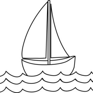 Free Coloring Page Clip Art Image: Sailboat Coloring Page.