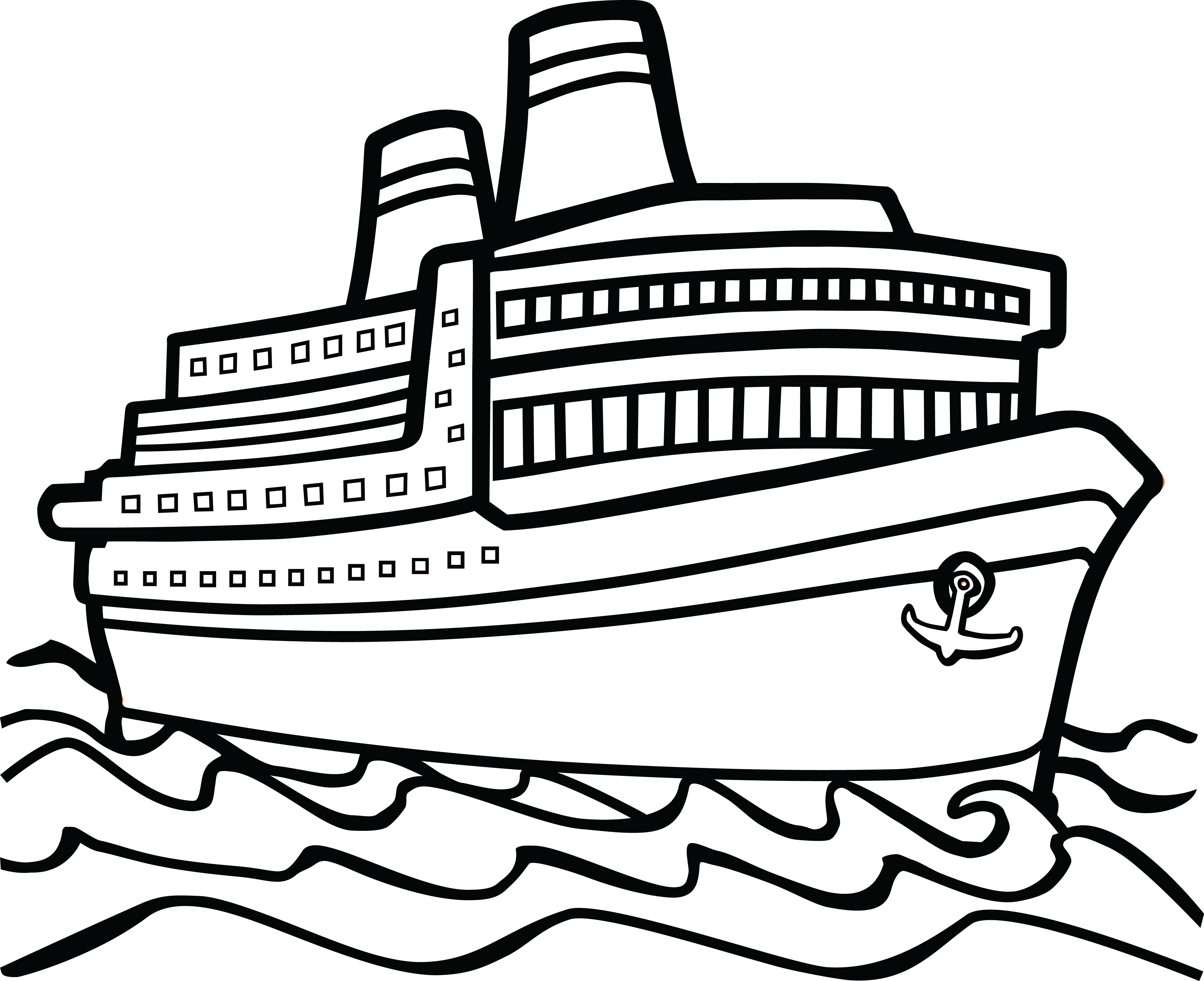 Boat clipart black and white 1 » Clipart Station.