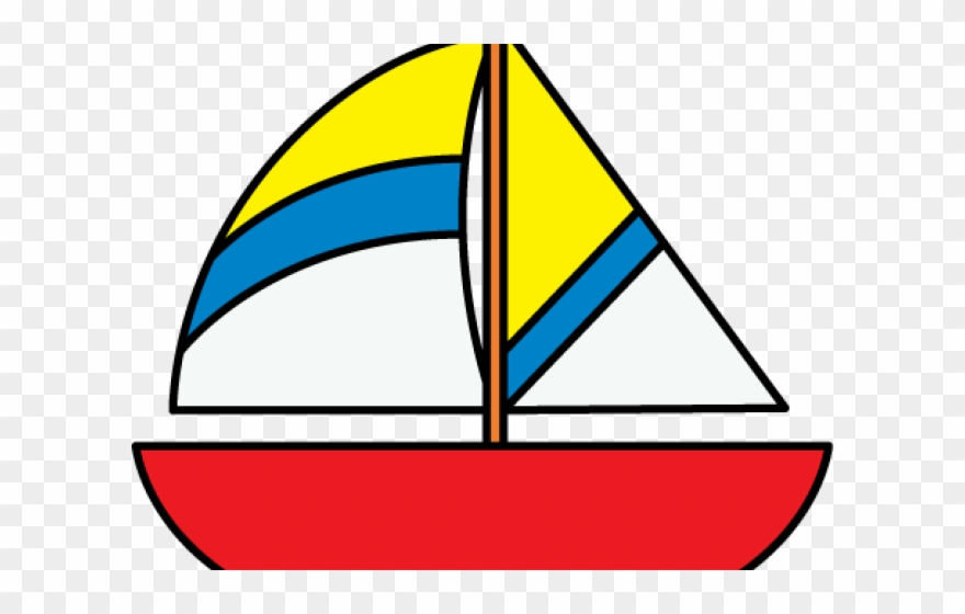 Yacht Clipart Colorful Boat.