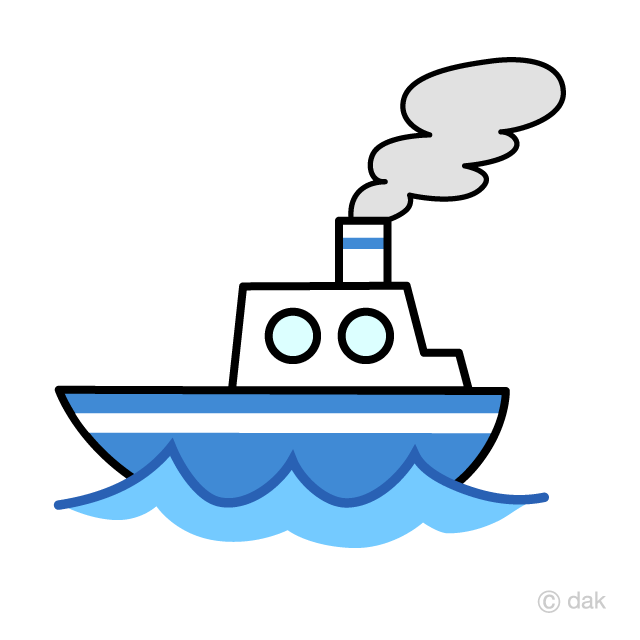 Free Cute Ship Clipart Image|Illustoon.