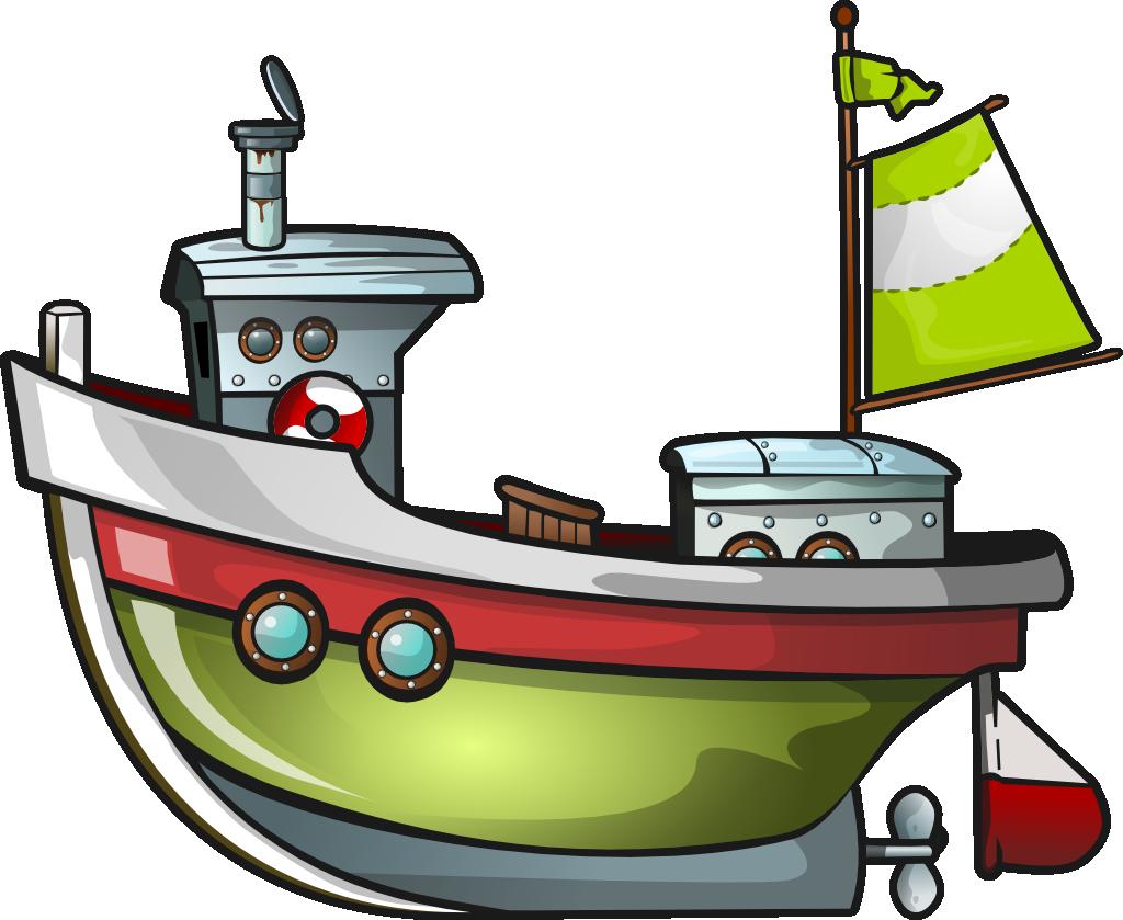 Free Green Boat Clip Art.