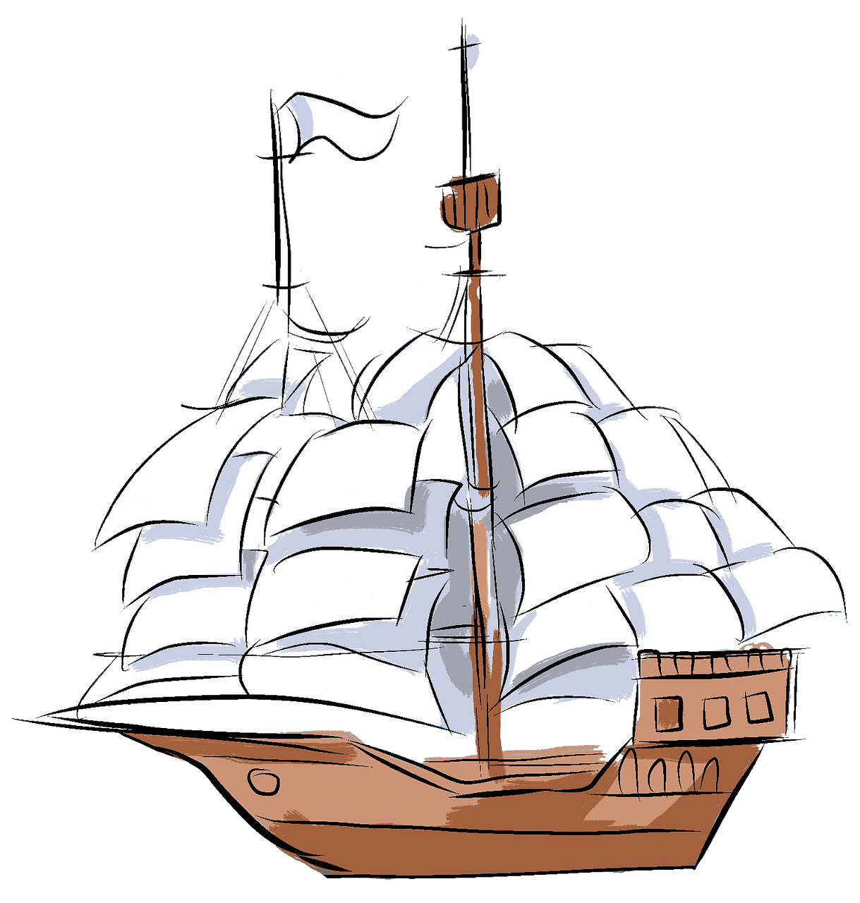 Sailing boat clipart. Free download..