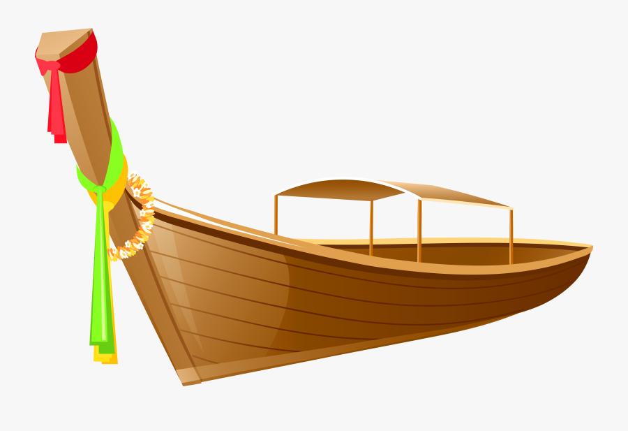 Thailand Long Boat Clip Art Png Transparent Image.