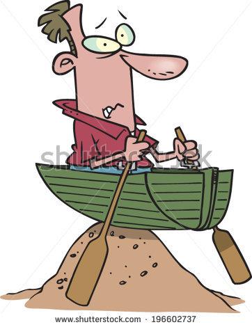 Cartoon Man Arrows His Back Stock Vector 564111040.