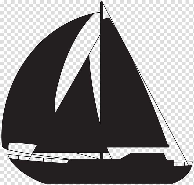 Silhouette of sailboat illustration, Sailing ship Ice boat.