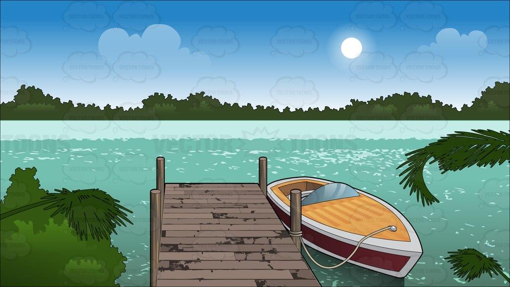 Boat Pier Clip Art.