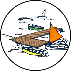 Ship harbor clipart #2