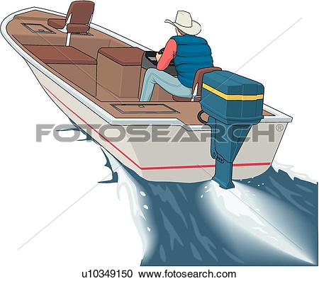 Clipart of Bass Boat u10349150.