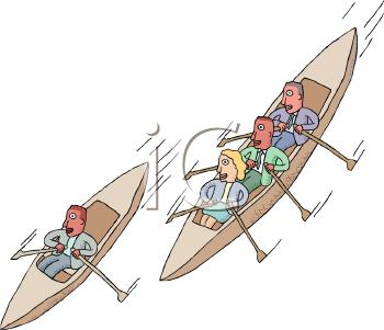 Canoe Race Clip Art.