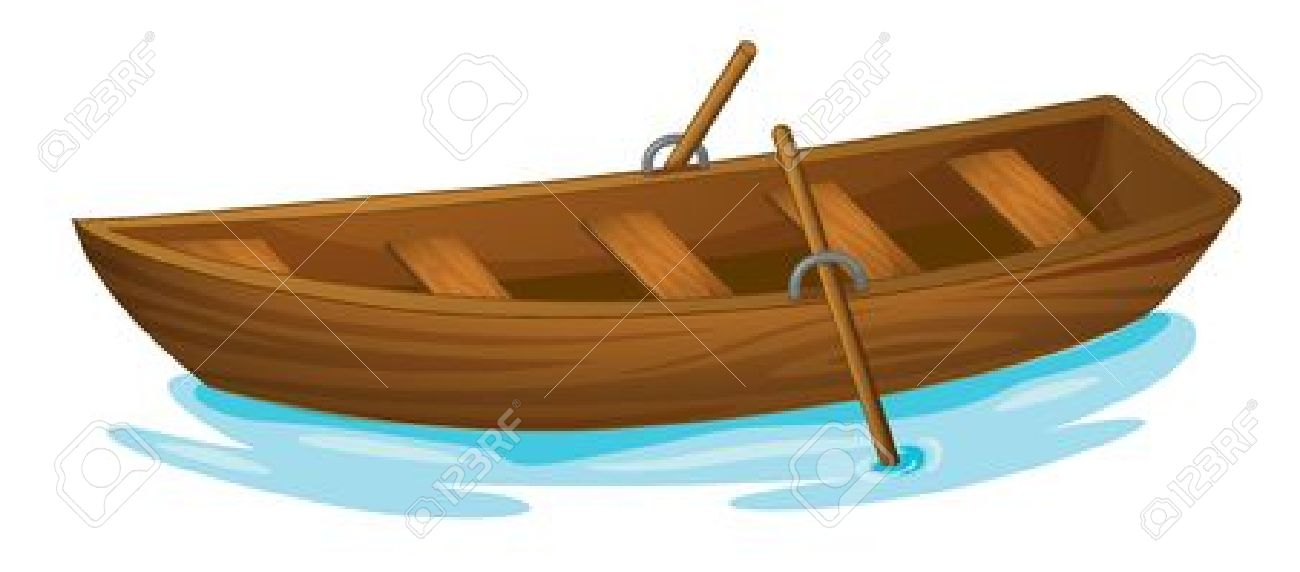 Illustration Of A Wooden Boat Royalty Free Cliparts, Vectors, And.