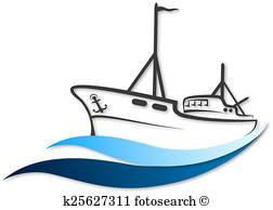 Fishing Boat Clipart Vectors.