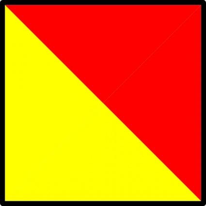 Nautical Flag Alphabet Vector.