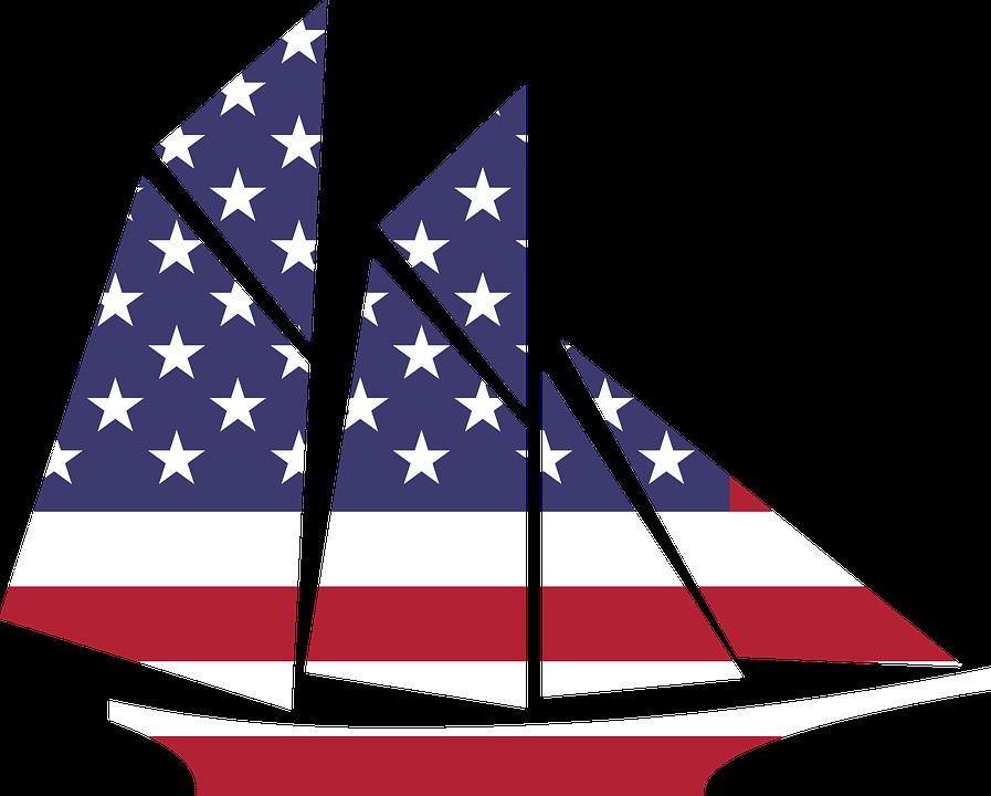 Boat, Flag.