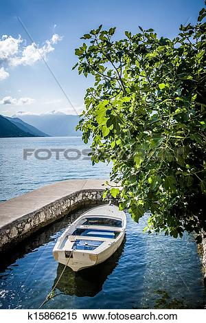 Stock Image of boat in the water garage k15866215.